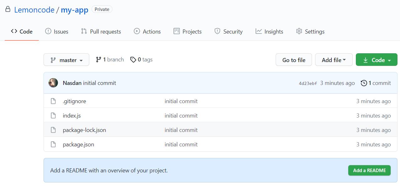 Repositorio en Github con los cambios aplicados
