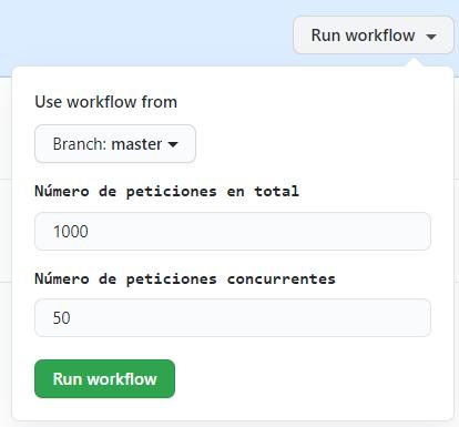 Ejecutar flujo de trabajo con diferentes parámetros